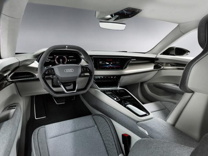 Интерьер Электрический кроссовер Audi e-tron GT