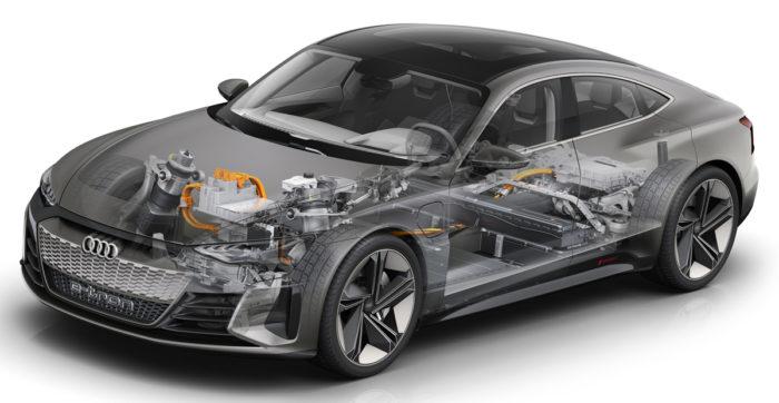 Характеристики Электрический кроссовер Audi e-tron GT