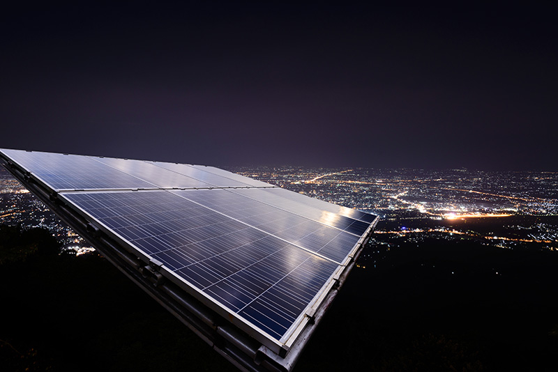 Солнечные батареи ночью