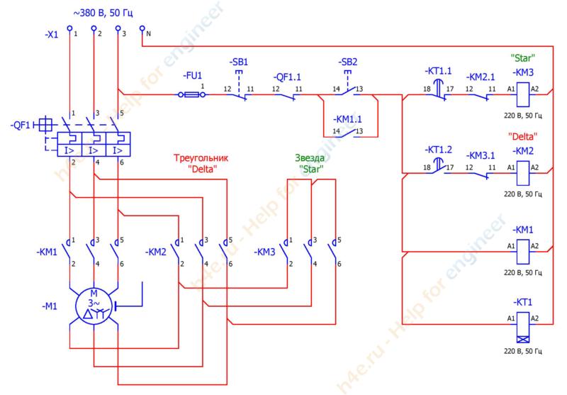 Двухскоростной асинхронный двигатель схема подключения фото 113