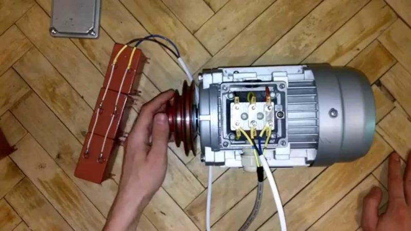 Схема подключения 3 фазного двигателя на 220