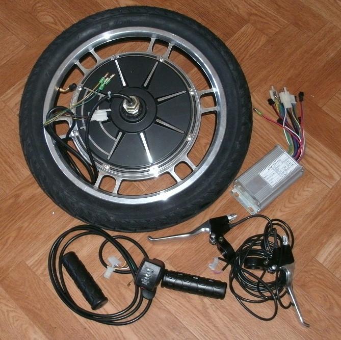 """Мотор-колесо 16"""" 48В 350Вт для электрификации"""