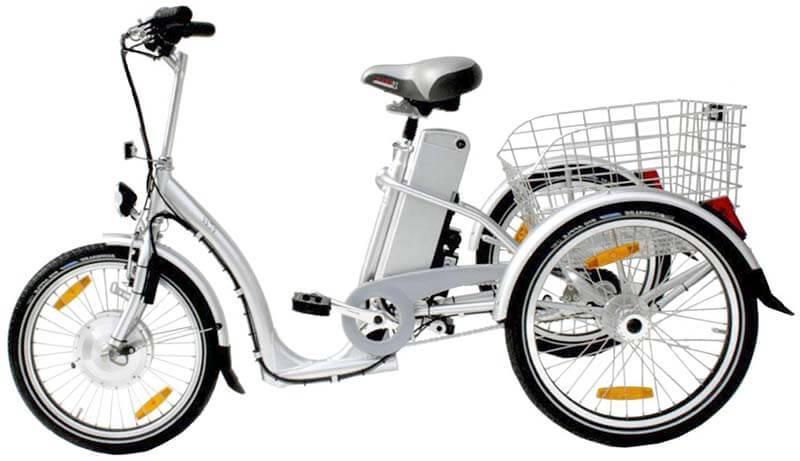 Электрический взрослый трехколесный велосипед
