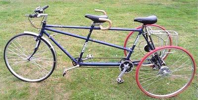 Взрослый трехколесный тандем (двухместный) велосипед
