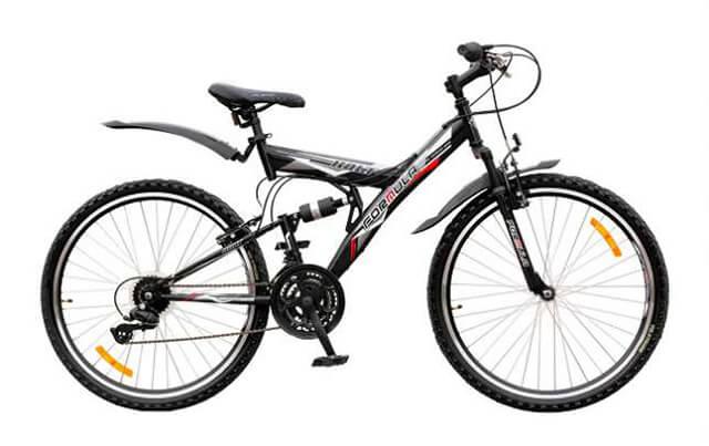 Горный двухподвесный велосипед для велотуризма