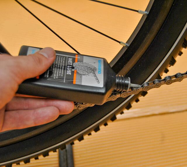 Смазка велосипедной цепи