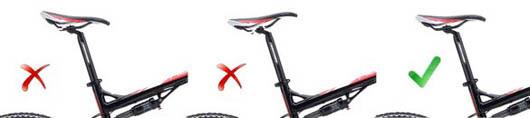 Правильная установка седла на велосипеде