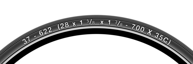 Пример обозначения размера шины